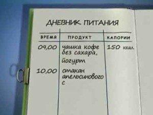 Дневник правильного питания, дневник худеющих, как вести дневник питания, дневник ПП онлайн, образец ведения дневника ПП
