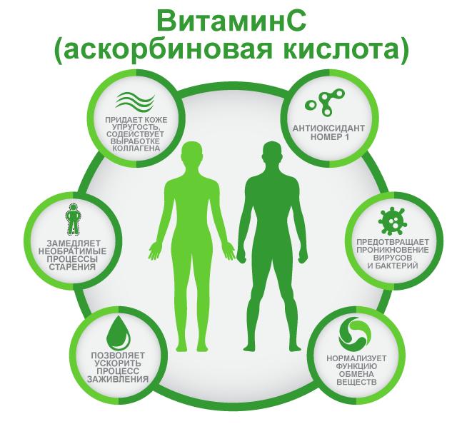 Польза витамина C, аскорбиновая кислота